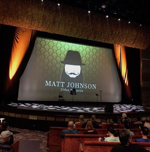 Matt Johnson Magician on the Celebrity Millennium