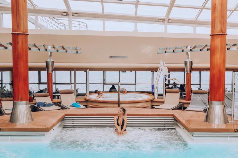 Kashlee Kucheran in solarium pool on Celebrity Cruises