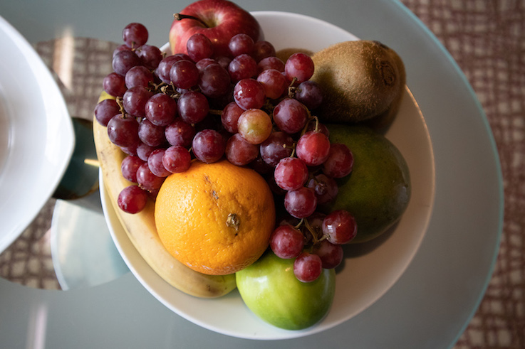 Bowl of fruit in room on Celebrity Millennium ship