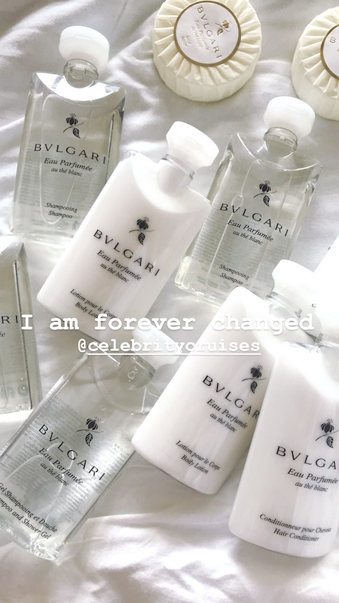 Bulgari amenities on celebrity cruises