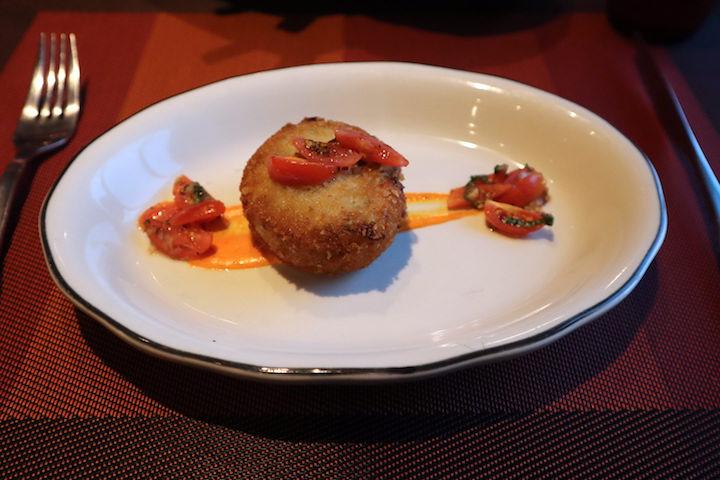 Crab cake at tuscan grille celebrity