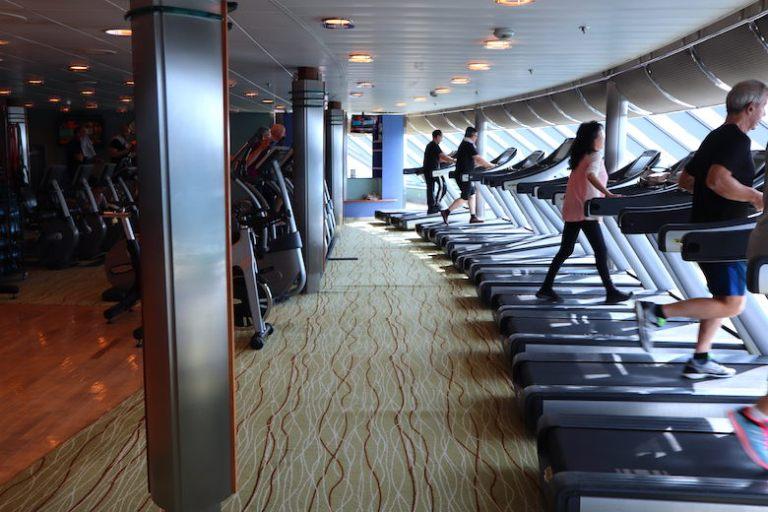 Gym on celebrity millennium
