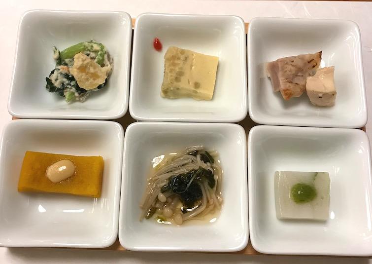 traditional set dinner in Japan