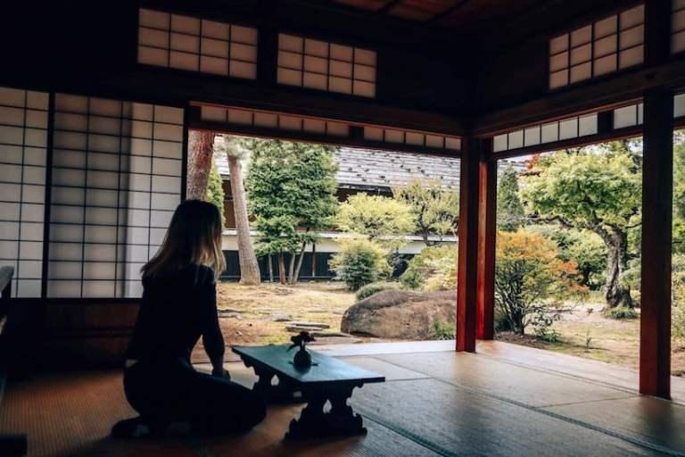 Takayama Jinya view of gardens