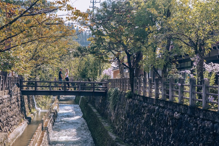 Beautiful bridges in Takayama Gifu Japan