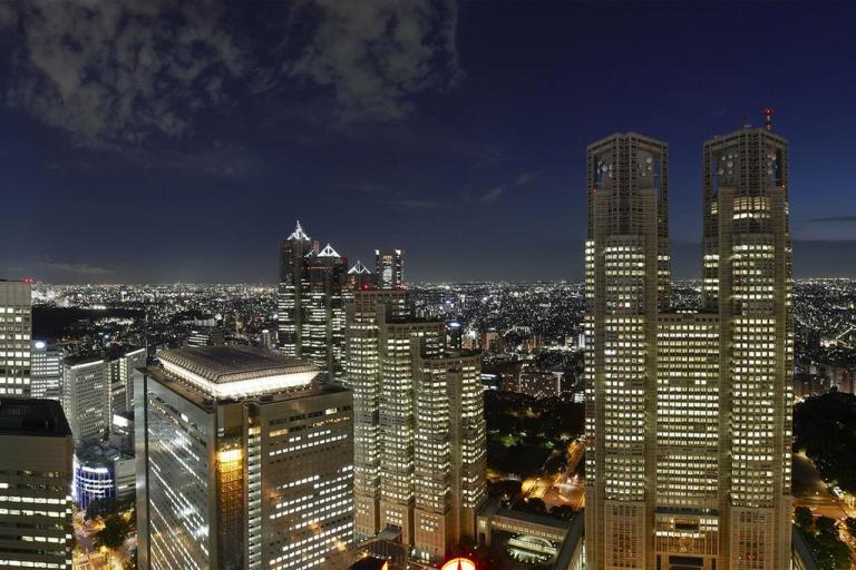 Keio Plaza Hotel Night Lights View