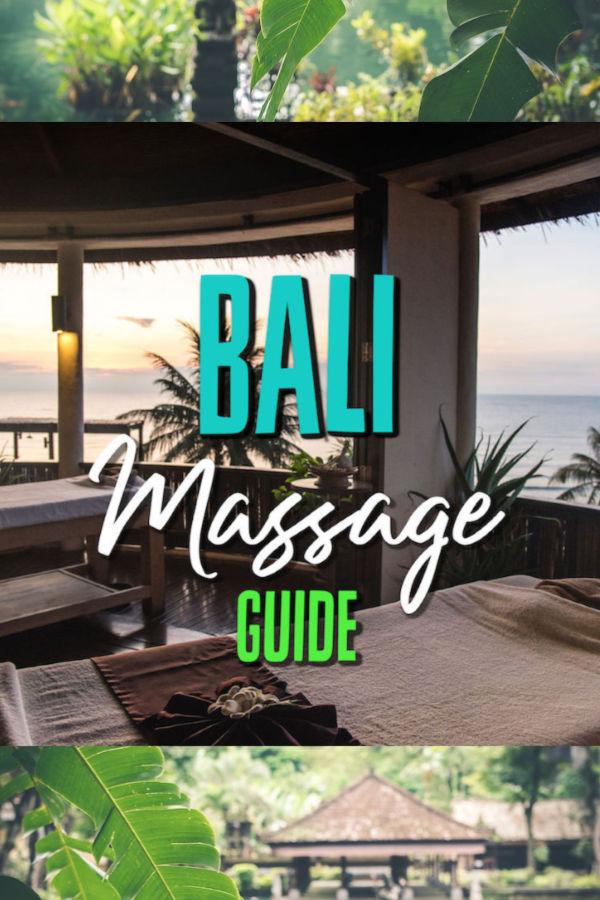 Bali massage cost