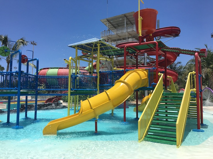 bali with kids - visit a waterpark