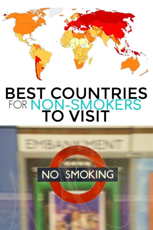 a list of countries that are non-smoker friendly