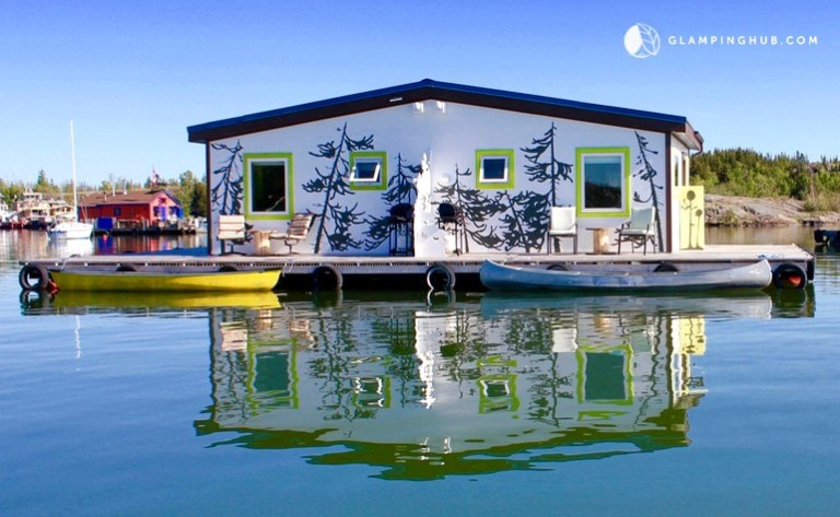 rent floating houseboat in the northwest territories - camping canada