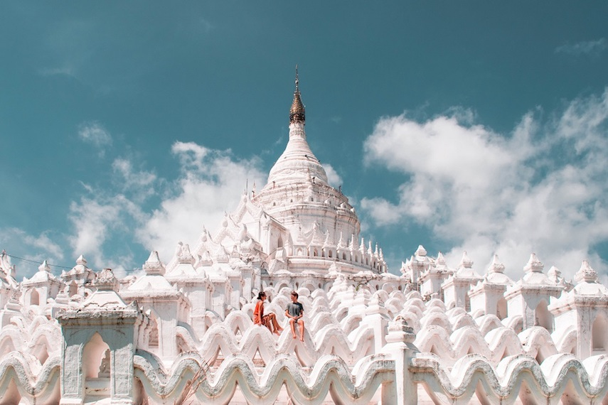 best instagram spots in myanmar - Hsinbyume Pagoda in Mandalay