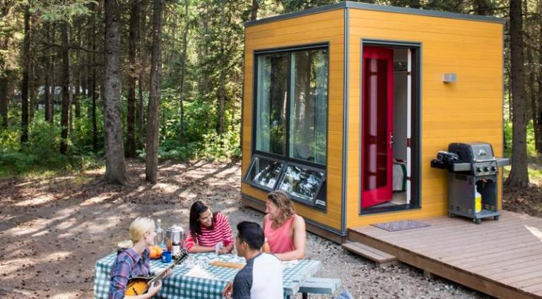 glamping in manitoba - rent the MicrOcube to camp in