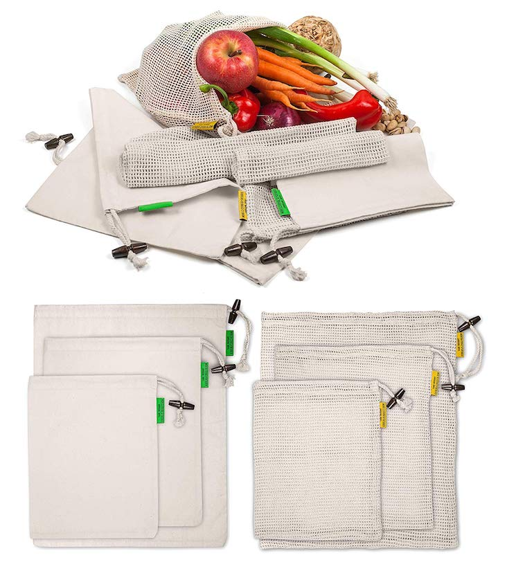 Bring a cloth bag to reduce your carbon footprint while traveling