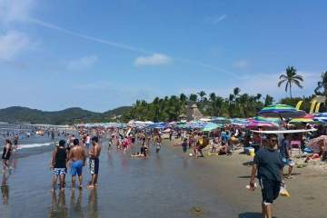 Sayulita Beach under permanent surveilance sickness
