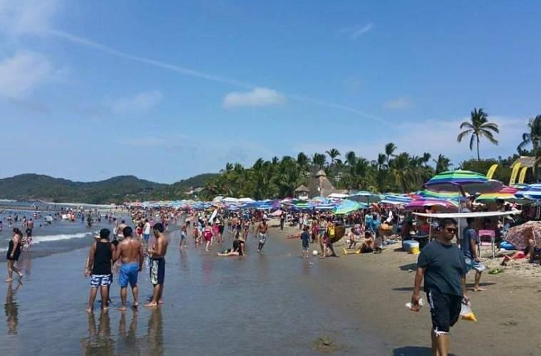 Sayulita Beach under permanent surveilance sickness