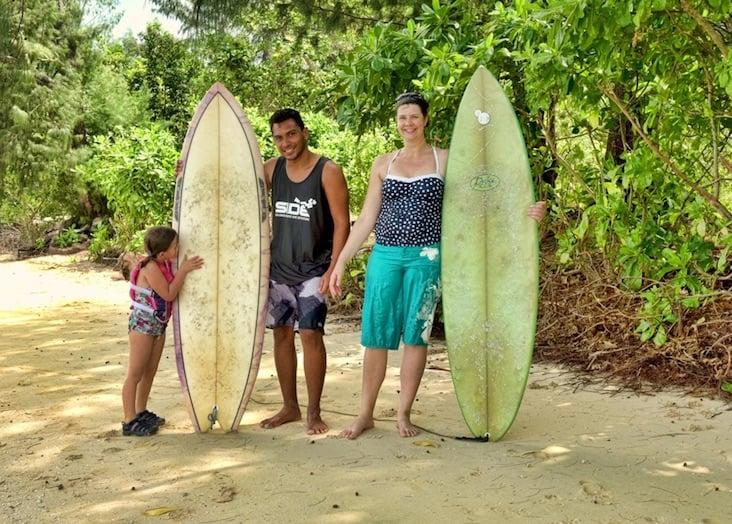 Great surfing in the Solomon Islands