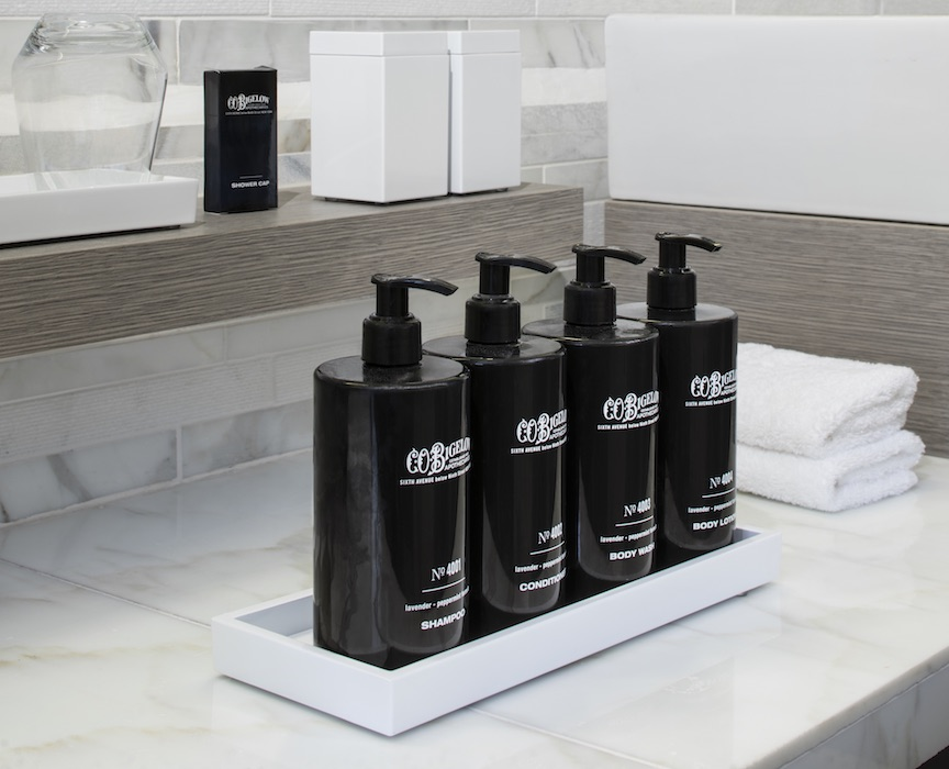 Aqua Class rooms get upgraded bath products made by Bigelow