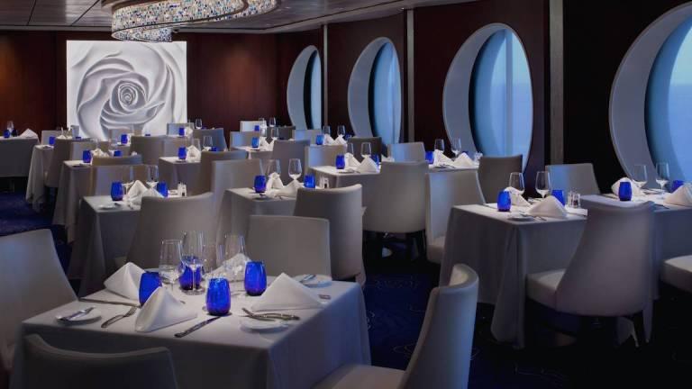 Aqua Class get to dine at Blu restaurant on celebrity cruises