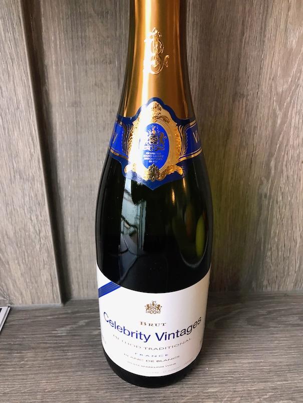 Free bottle of champagne in Aqua class