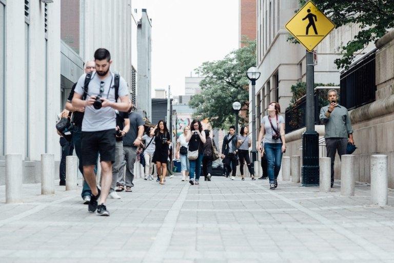 i love how canada has big sidewalks and is pedestrian friendly