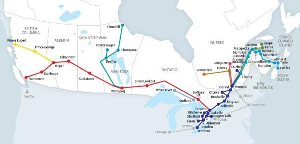 via rail route map