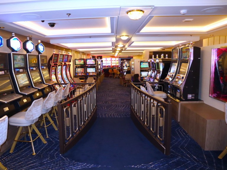 The newly refurbished casino on Millennium ship
