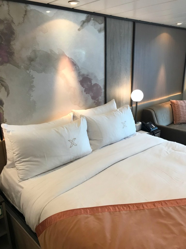 new bedding and colors in refurbished celebrity millennium rooms