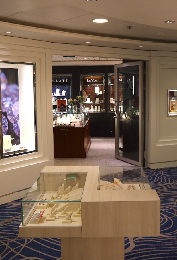 Renovated shops on the Celebrity millennium