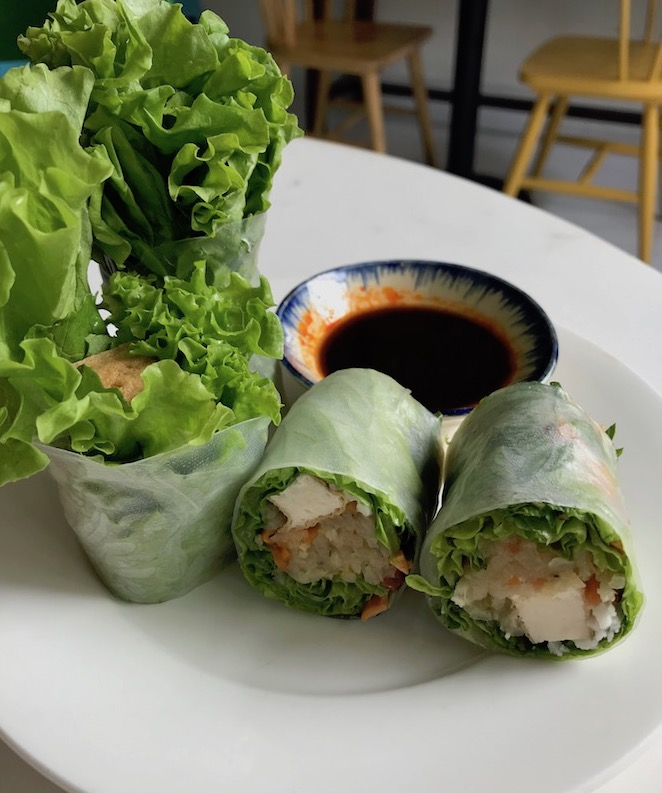 Fresh rolls at Nu Eatery