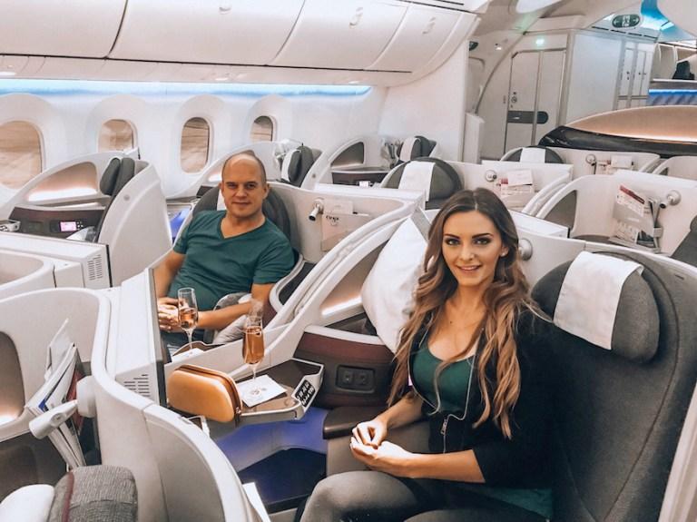 Kashlee Kucheran on business class flights