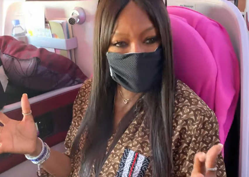 Medical and Dust Mask Naomi Campbell
