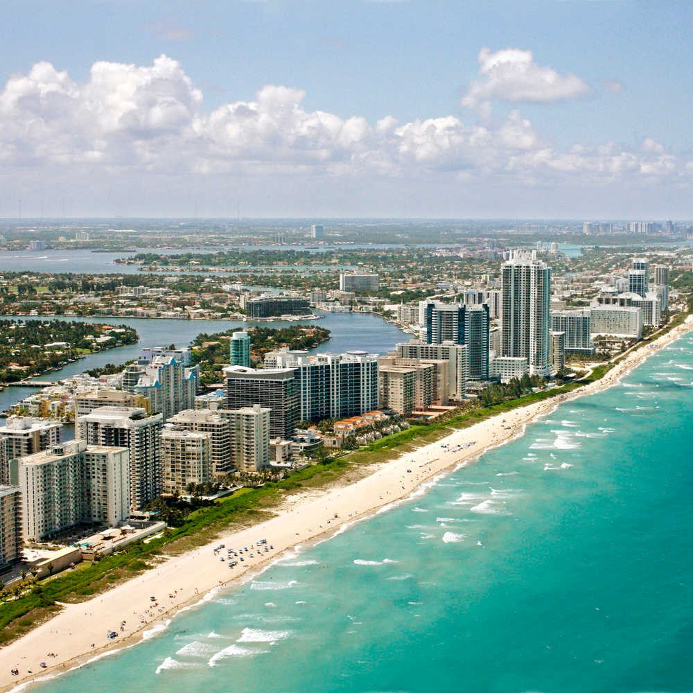 Miami warmest places in the usa