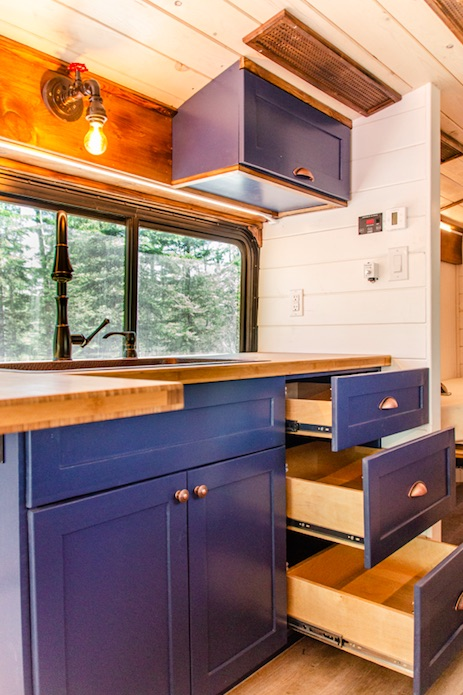 Off the grid bus conversion