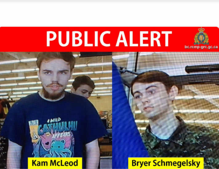RCMP: Kam McLeod and Bryer Schmegelsky Named as Suspects in Murder in Three BC Deaths
