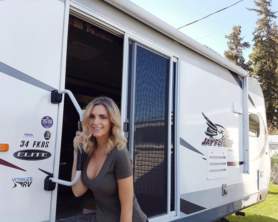 Kashlee Kucheran living in a RV