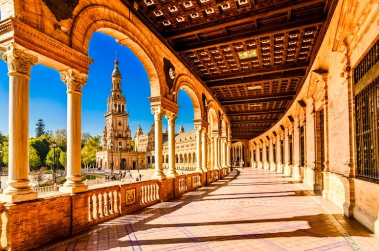 Seville has the warmest weather and highest temperatures in Spain in winter