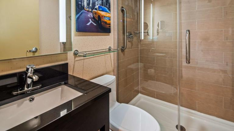 bathroom in the best western premier manhattan