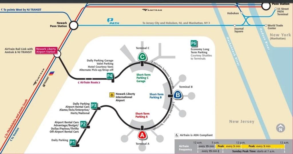 Newark Airtrain schedule