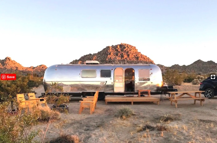 rent an airstream in joshua tree - strange accommodation