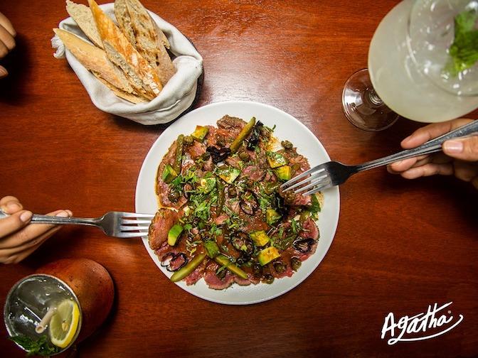 Menu at Agatha kitchen bar mazatlan