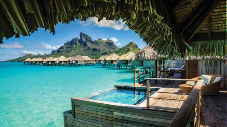 Four Seasons overwater bungalow in bora bora