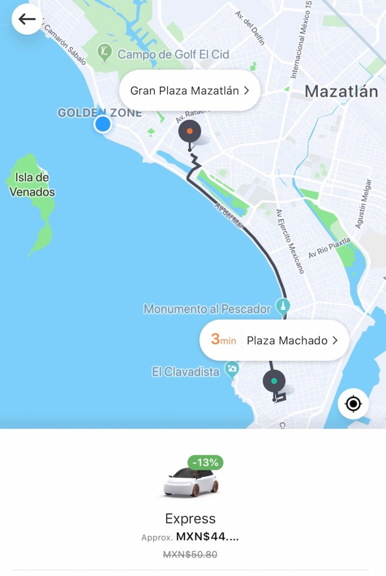 How much does DiDi cost in Mazatlan