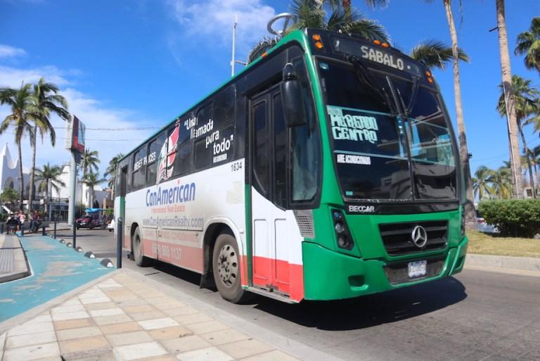 How to take the Sabalo Centro bus in Mazatlan