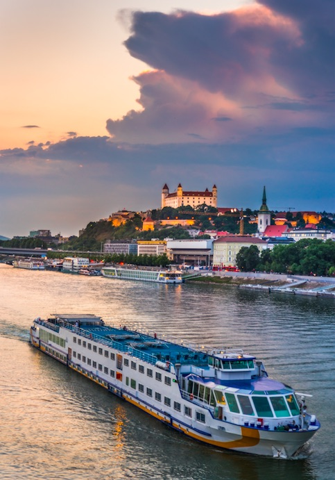 Take the ferry from Vienna to Bratislava