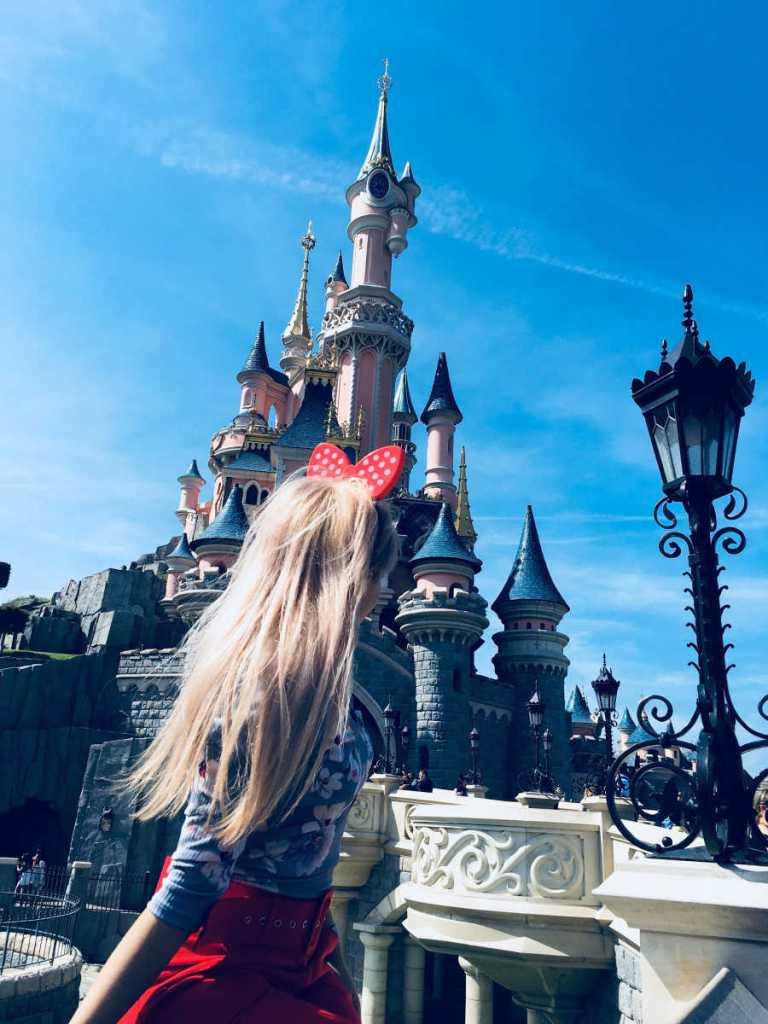 Disneyland park busy
