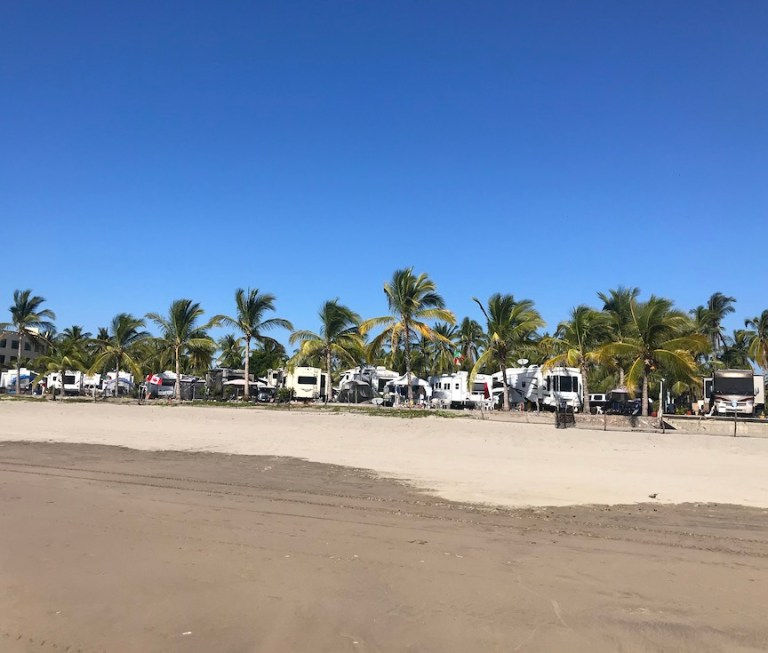 RV park on stone island mazatlan