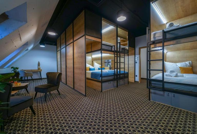 Capsule hotel in Bratislava - cheap places to stay