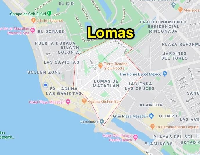 Lomas neighborhood in mazatlan