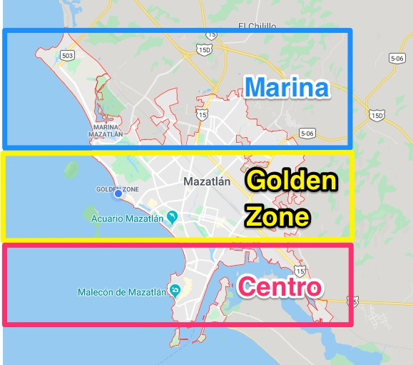 most popular areas of mazatlan