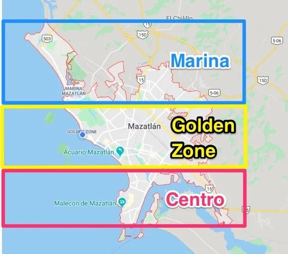 most popular areas of mazatlan